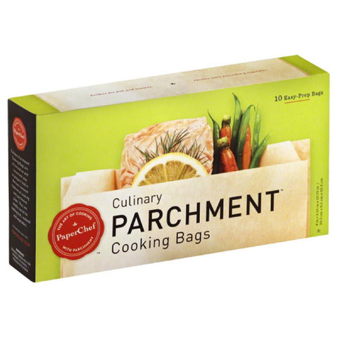 Paper Chef Culinary Parchment Cooking Bags, 10 Pc (Pack of 12)