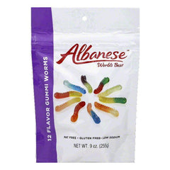 Albanese 12 Flavor Gummi Worms, 9 Oz (Pack of 6)