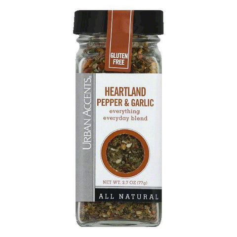 Urban Accents Heartland Pepper & Garlic Blend Seasoning, 2.7 Oz (Pack of 4)