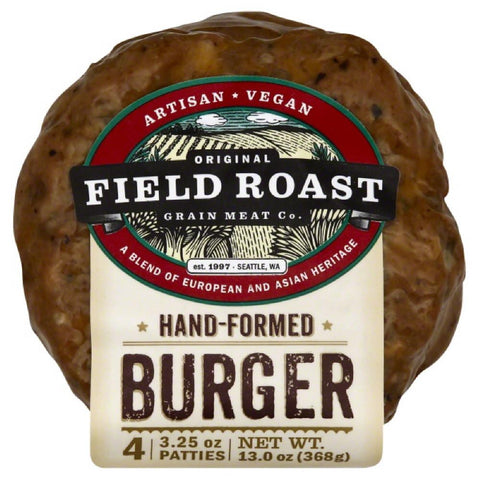 Field Roast Hand-Formed Burger, 13 Oz (Pack of 12)