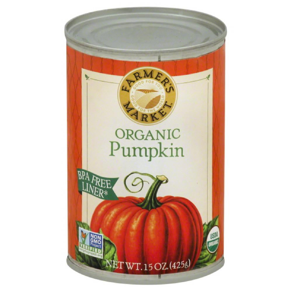 Farmers Market Organic Pumpkin, 15 Oz (Pack of 12)