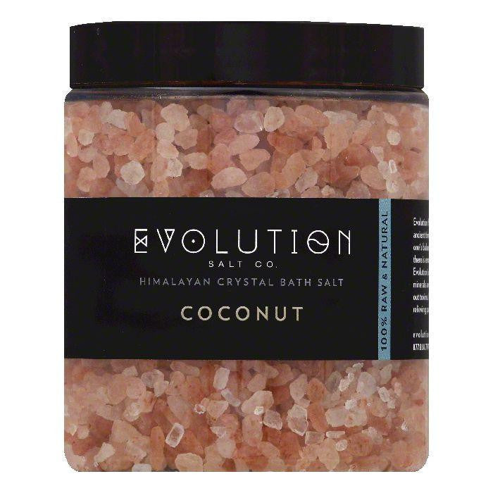 Evolution Salt Coconut Himalayan Crystal Bath Salt, 26 OZ