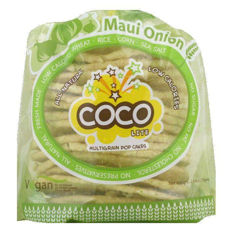 CoCo Maui Onion Multigrain Pop Cakes, 2.64 Oz (Pack of 6)