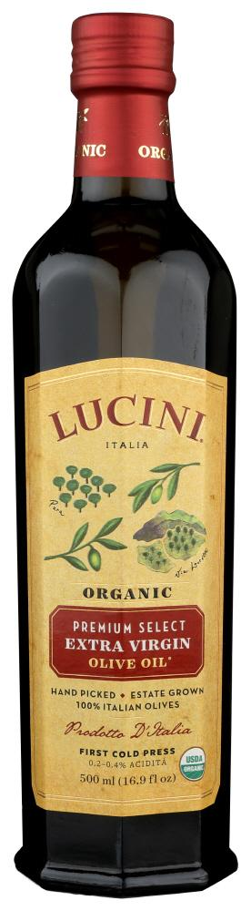 Lucini Olive Oil Organic Extra Virgin, 16.9 OZ (Pack of 6)