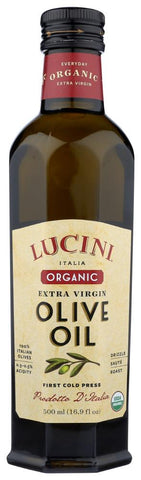 Lucini Organic Extra Virgin Olive Oil, 16.9 Oz (Pack of 6)
