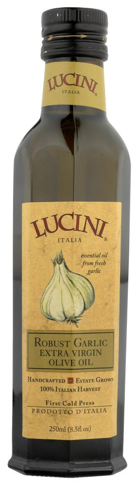 Lucini Robust Garlic Extra Virgin Olive Oil, 8.5 OZ (Pack of 6)