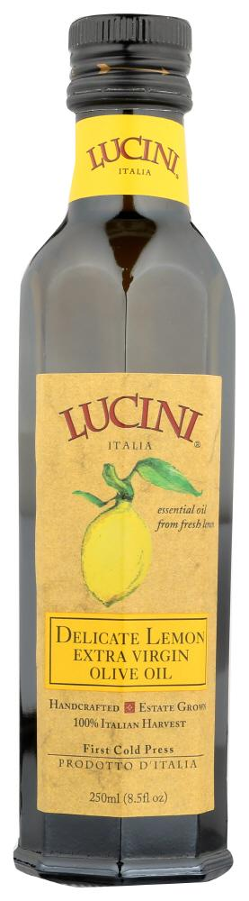 Lucini Delicate Lemon Extra Virgin Olive Oil, 8.5 OZ (Pack of 6)