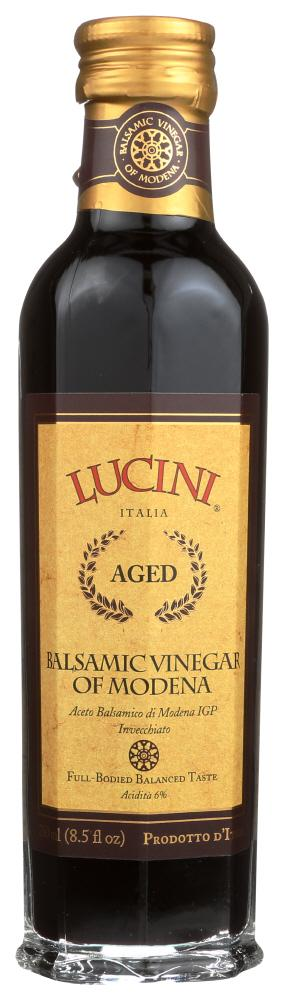 Lucini Aged Balsamic Vinegar of Modena, 8.5 OZ (Pack of 6)