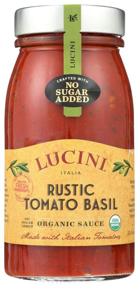 Lucini Rustic Tomato Basil Sauce, 25.5 OZ (Pack of 6)