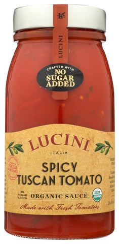 Lucini Pasta Spicy Tuscan Tomato Organic Sauce, 25.5 FO (Pack of 6)