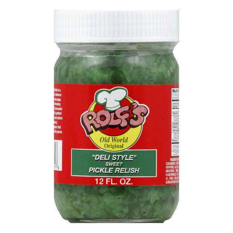 Rolf's Deli Style Sweet Pickle Relish, 12 OZ (Pack of 6)