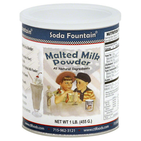 Soda Fountain Malted Milk Powder, 16 Oz (Pack of 6)