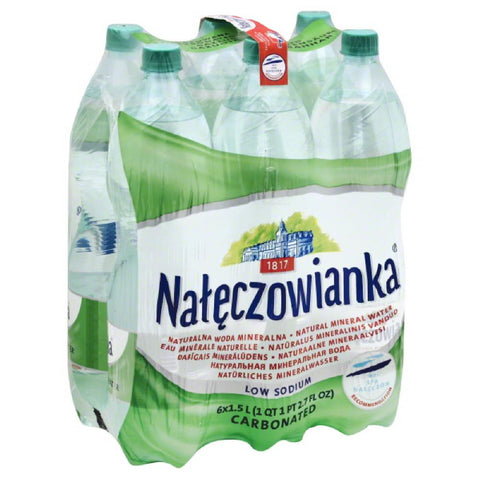 Nateczowianka Carbonated Low Sodium Natural Mineral Water, 9 Lt