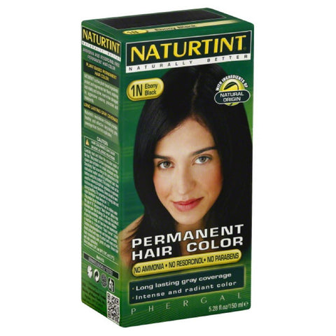 Naturtint Ebony Black 1N Permanent Hair Color, 5.28 Fo
