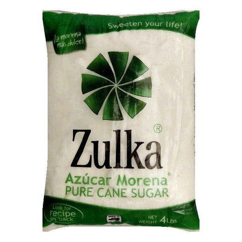 Zulka Cane Sugar, 4 LB (Pack of 10)