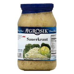 Agrosik Sauerkraut, 33 OZ (Pack of 12)