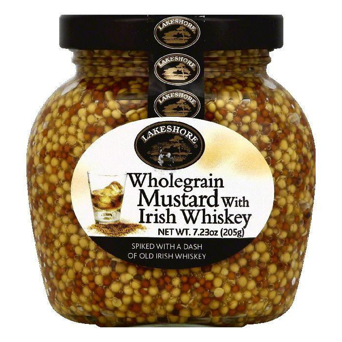 Lakeshore Wholegrain Mustard with Irish Whiskey, 7.23 OZ (Pack of 6)