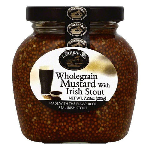 Lakeshore Wholegrain Mustard with Irish Stout, 7.23 OZ (Pack of 6)
