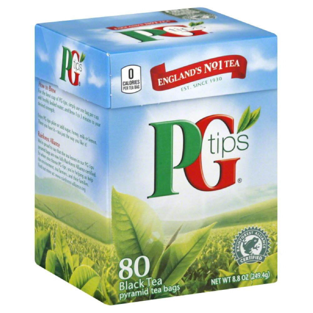 PG Tips Pyramid Tea Bags Black Tea, 80 Bg (Pack of 12)