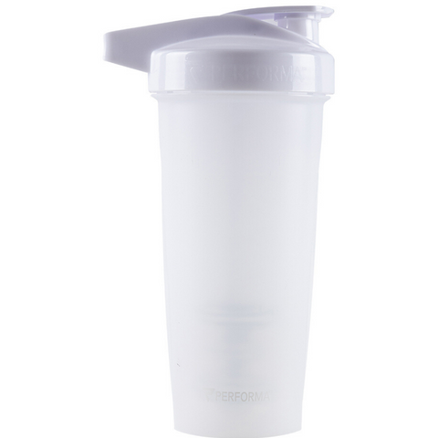 Performa White Shaker Bottle, (Pack of 1)