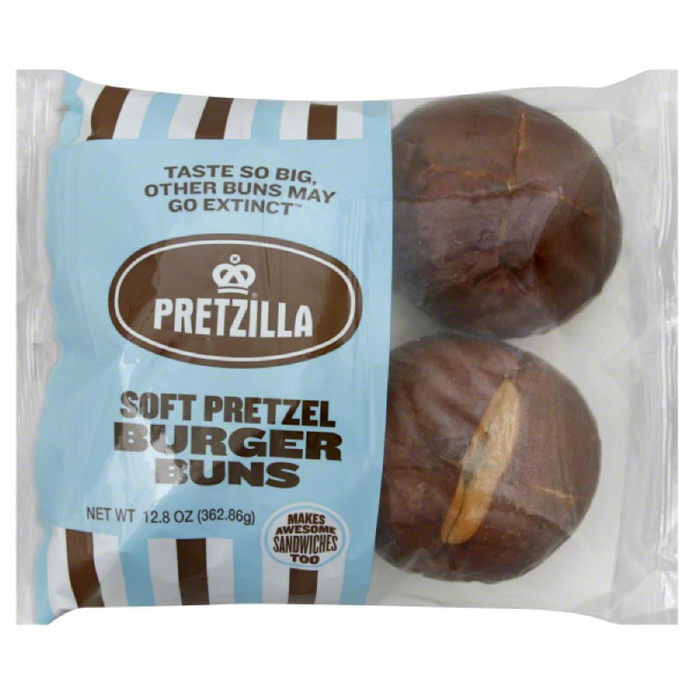 Pretzilla Soft Pretzel Burger Buns, 12.8 Oz (Pack of 12)