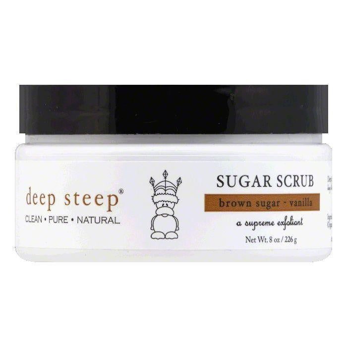 Deep Steep Brown Sugar - Vanilla Sugar Scrub, 8 OZ