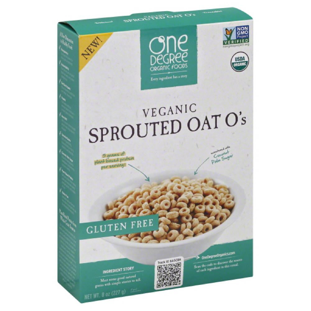 One Degree Organic Foods Sprouted Oat O's Veganic Cereal, 8 Oz (Pack of 6)