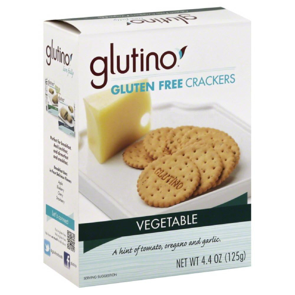 Glutino Vegetable Gluten Free Crackers, 4.4 Oz (Pack of 6)