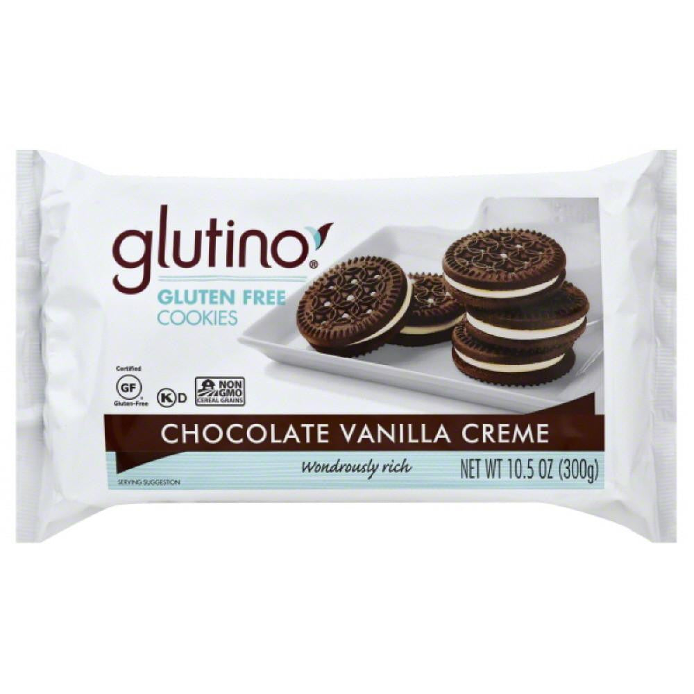 Glutino Gluten Free Chocolate Vanilla Creme Cookies, 10.6 Oz (Pack of 12)