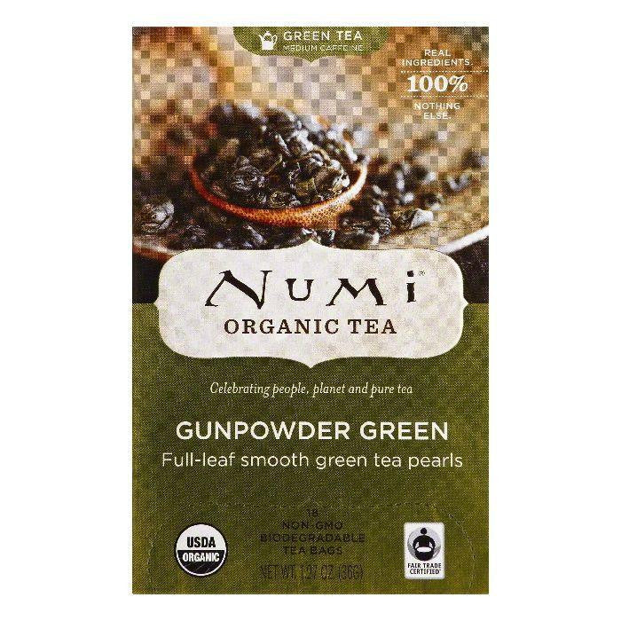 Numi Bags Gunpowder Green Organic Green Tea, 18 ea (Pack of 6)