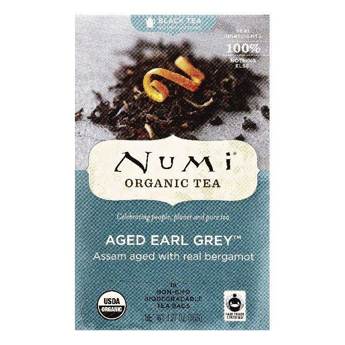 Numi Bags Aged Earl Grey Black Tea, 18 ea (Pack of 6)
