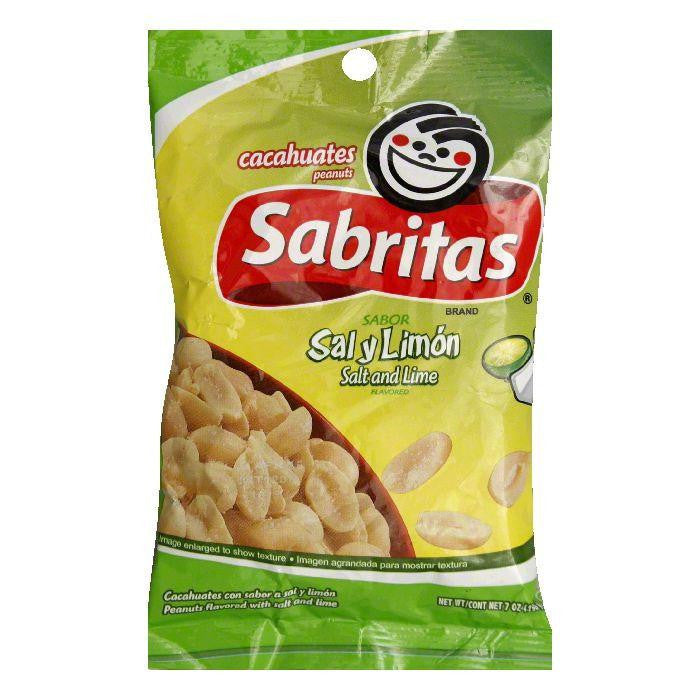 Sabritas Salt And Lime Peanuts, 7 OZ (Pack of 12)
