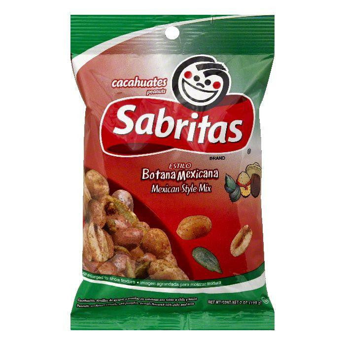 Sabritas Mexican Style Mix Peanuts, 7 OZ (Pack of 12)