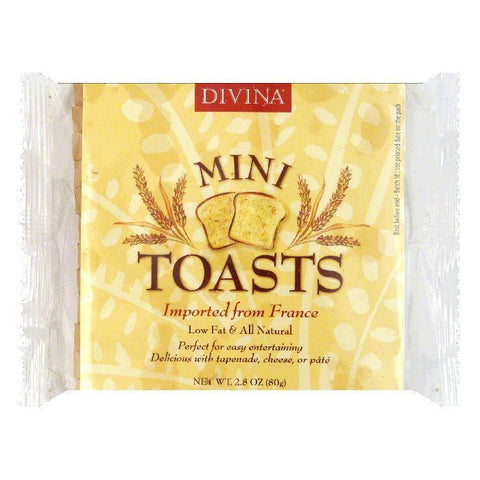 Divina Mini Toasts, 2.82 OZ (Pack of 24)
