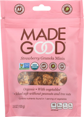 MadeGood Strawberry Granola Minis , 3.5Oz (Pack of 6)