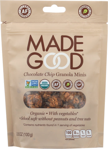 MadeGood Chocolate Chip Granola Minis , 3.5Oz (Pack of 6)