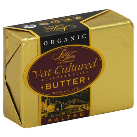 Sierra Nevada Salted Vat-Cultured European Style Butter, 8 Oz (Pack of 12)