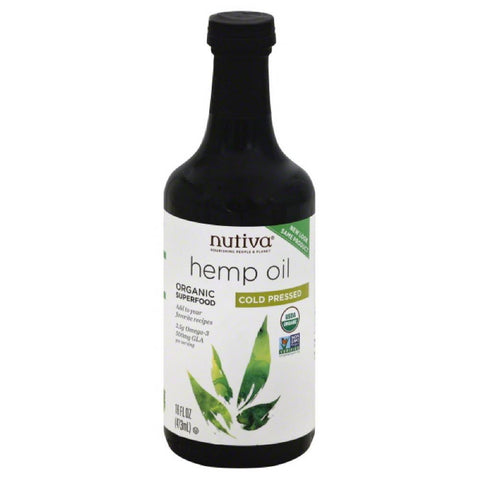 Nutiva Cold Pressed Hemp Oil, 16 Oz