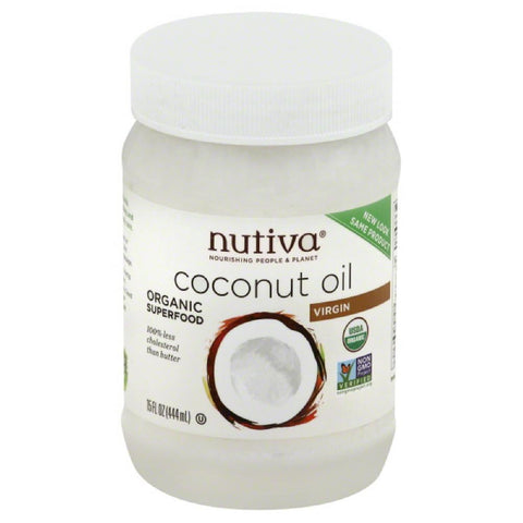 Nutiva Virgin Coconut Oil, 15 Oz (Pack of 12)