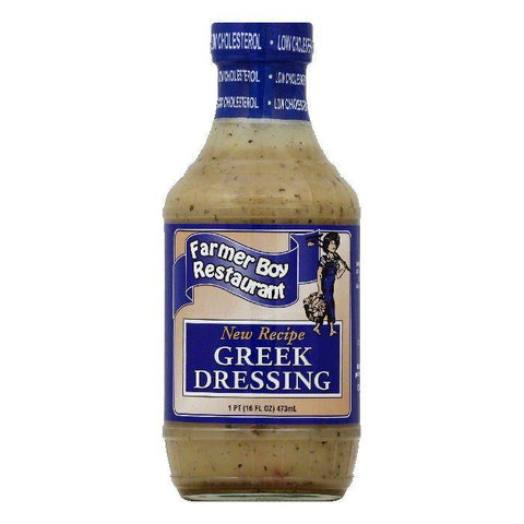 Farmer Boy Restaurant Greek Dressing, 16 OZ (Pack of 6)