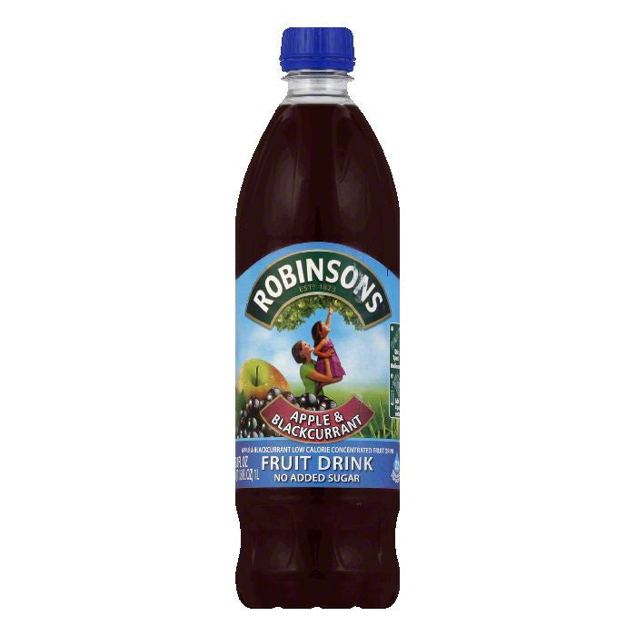 Robinsons Apple & Blackcurrant Fruit Drink, 33.8 OZ (Pack of 12)