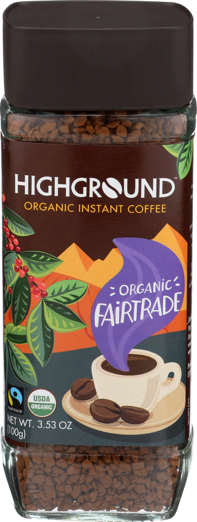 Highground Instant Regular Coffee, 3.53 Fo (Pack of 6)