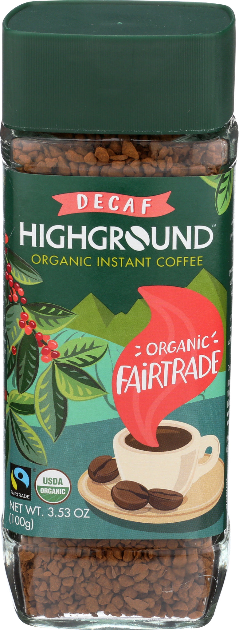 Highground Instant Decaf Coffee, 3.53 Fo (Pack of 6)