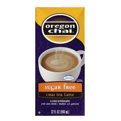 Oregon Chai Sugar Free Organic Chai, 32 FO (Pack of 6)