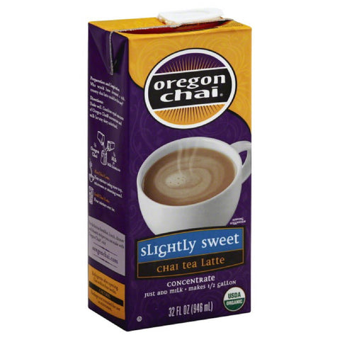 Oregon Chai Slightly Sweet Concentrate Chai Tea Latte, 32 Fo (Pack of 6)