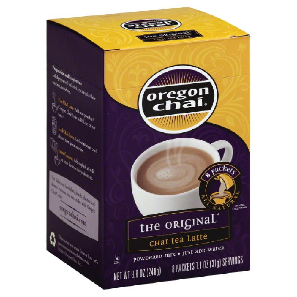 Oregon Chai The Original Powdered Mix Chai Tea Latte, 8 Pc (Pack of 6)