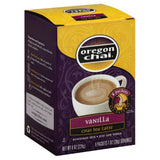 Oregon Chai Vanilla Powdered Mix Chai Tea Latte, 8 Pc (Pack of 6)