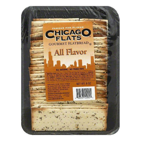 Chicago Flats All Flavor Gourmet Flatbread, 8 OZ (Pack of 10)