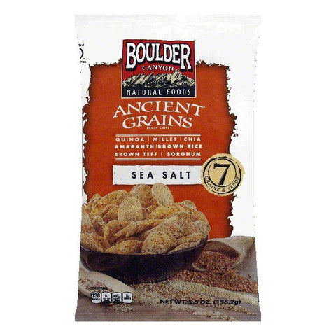 Boulder Canyon Sea Salt Ancient Grains Snack Chips, 5.5 OZ (Pack of 12)