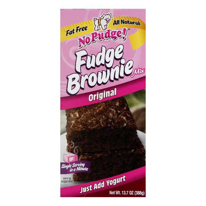 No Pudge Fat Free Brownie Mix-Original, 13.7 OZ (Pack of 6)